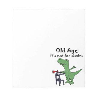 Funny T-rex Dinosaur Using Walker Notepads