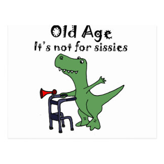 Funny T-rex Dinosaur Using Walker Postcard