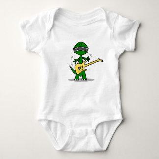 Funny T-Rex Guitar Music Baby Bodysuit
