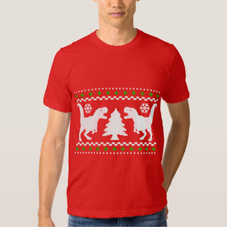 Funny T-Rex Ugly Christmas Sweater T Shirts