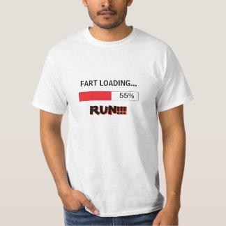 Funny t-shirt for men FART LOADING RUN