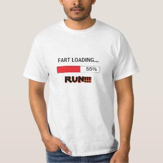 Funny t-shirt for men FART LOADING RUN