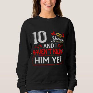 Funny T-Shirt For Wife. Gift For 10th Anniversary.
