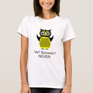Funny T-Shirt, Grumpy Owl Sarcastic T-Shirt