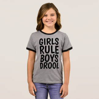 Funny T-shirts for Girls Kids GIRLS RULE