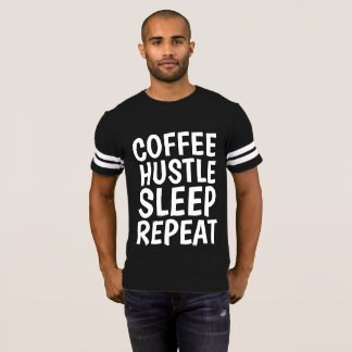 Funny T-shirts for men, COFFEE HUSTLE SLEEP