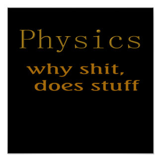 Funny t-shirts Physics humor Poster