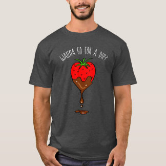 Funny T-shirts | Strawberry Dipped in Chocolate