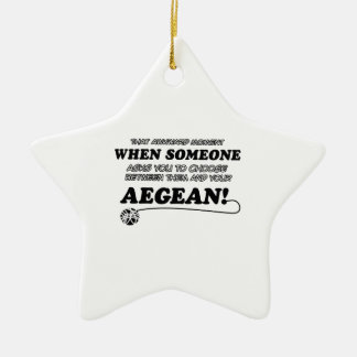 Funny Tabby designs will make a great gift item fo Ceramic Star Ornament