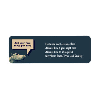 Funny Talking Horse Return Address Label