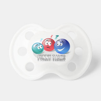 Funny Talks Smileys design in booginhead pacifier