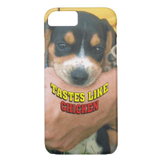 Funny Tastes Like Chicken Beagle Puppy iPhone 7 Case