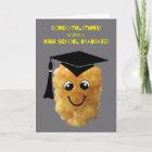 Funny Tater Tot High School Graduation Congrats Card