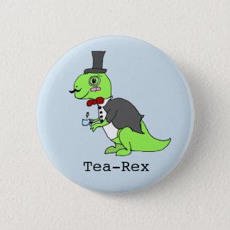 Funny 'Tea-rex' Dinosaur 2 Inch Round Button