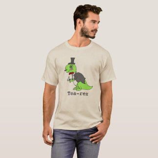 Funny 'Tea-rex' Dinosaur T-Shirt