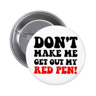 Funny teacher 2 inch round button