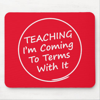Funny Teacher Mouse Pad