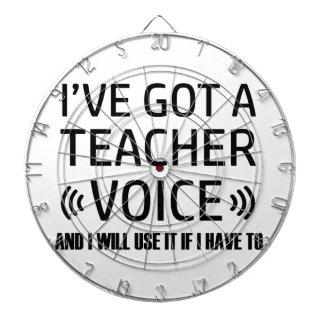 Funny Teacher voice designs Dartboard With Darts