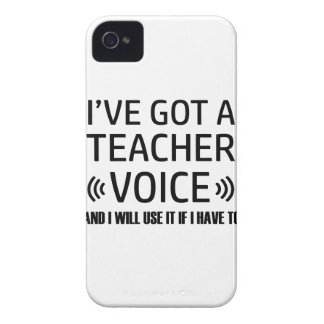 Funny Teacher voice designs iPhone 4 Cover