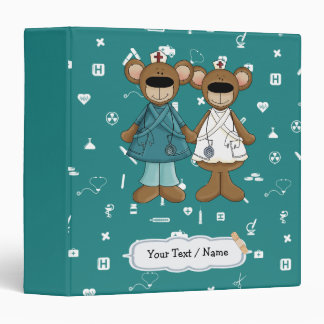 Funny Teddy Bears Custom Nurse Gift Binders