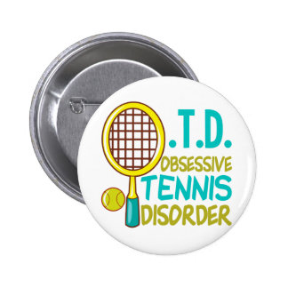 Funny Tennis Buttons
