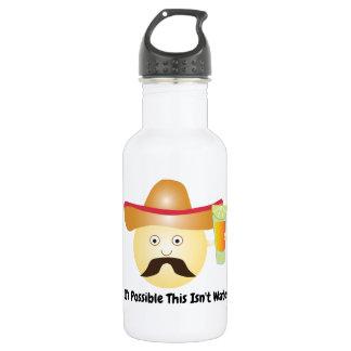 Funny Tequila Emoji Water Bottle