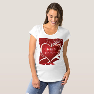 Funny Text Design And Big Red Heart Maternity T-Shirt