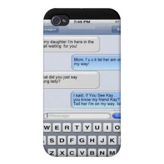 Funny Text Messages iPhone 4/4S Cases
