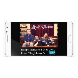 Funny Texting Christmas Horizontal Photo Card Template