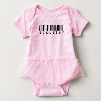 Funny texts baby girl tutu - DILLIGAF Baby Bodysuit