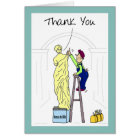 Funny Thank You Card:  Venus Demilo Card