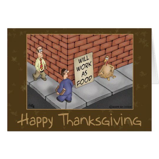 Funny Thanksgiving Cards: It's a Turkey Economy Card