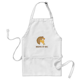 Funny Thanksgiving Cartoon Turkey Standard Apron
