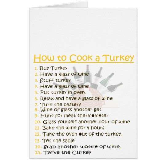 funny Thanksgiving personalize Card