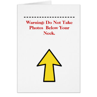 Funny Thanksgiving Photo Warning Greeting Card