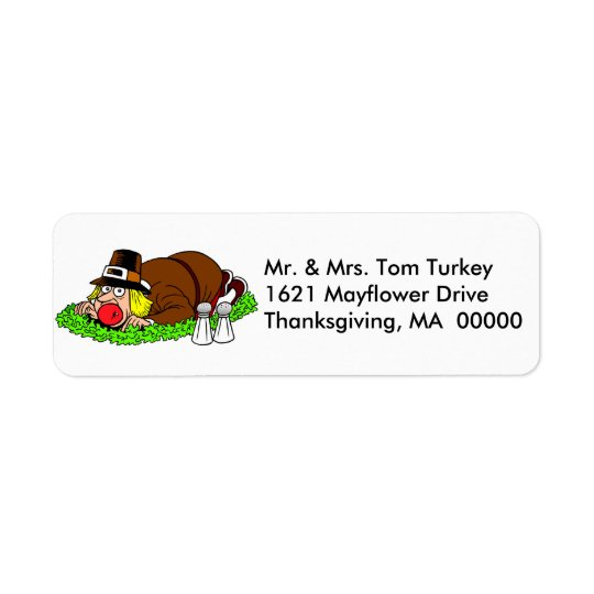 Funny Thanksgiving Pilgrim Return Address Labels