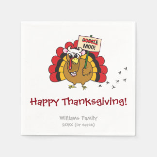 Funny Thanksgiving Turkey Disposable Napkins