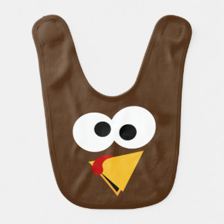 Funny Thanksgiving Turkey Face Bib