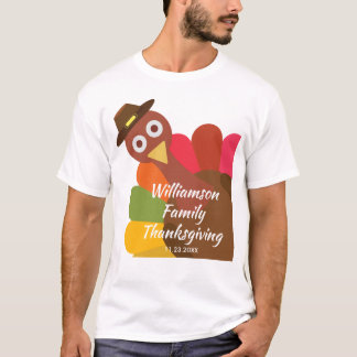 Funny Thanksgiving Turkey Matching Family Custom T-Shirt