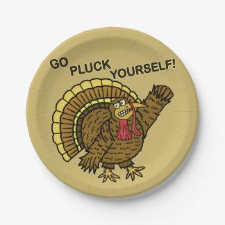 Funny Thanksgiving Turkey Pun Paper Plate