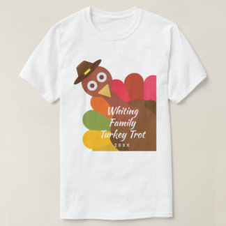 Funny Thanksgiving Turkey Trot Matching Family T-Shirt
