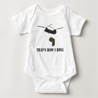 Funny that's how i roll baby bodysuit