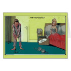 Funny the real golfer, just married card
