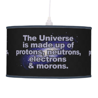 "Funny ""The Universe"" lamp / shade"