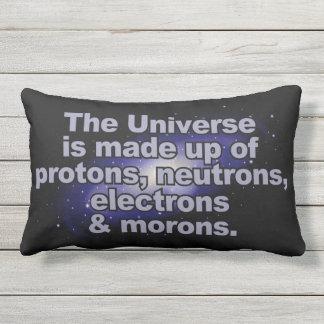 "Funny ""The Universe"" throw pillows"