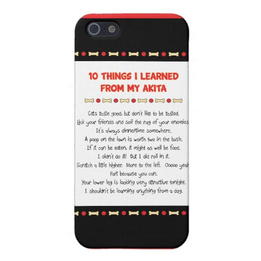 Funny Things I Learned From My Akita iPhone 5 Covers