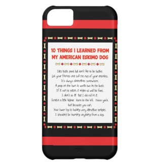 Funny Things I Learned From My American Eskimo Dog iPhone 5C Cover