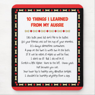 Funny Things I Learned From My Aussie Mouse Pad