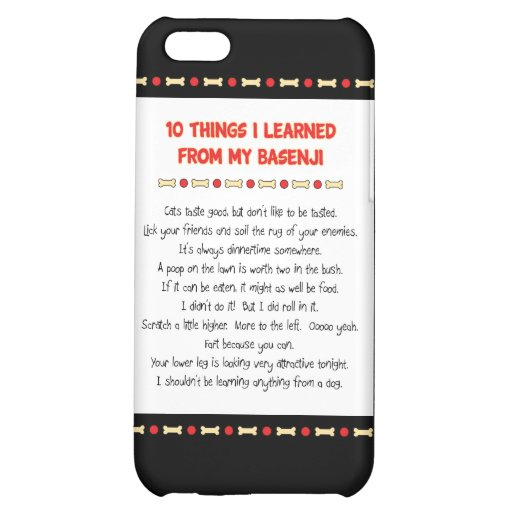 Funny Things I Learned From My Basenji iPhone 5C Cases