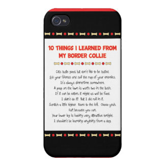 Funny Things I Learned From My Border Collie iPhone 4/4S Cases